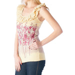 Women's Floral Screen Print Top #11488 Made In USA - IDI Clothing - Where you can buy directly for the designer manufacturer-Made In USA :)