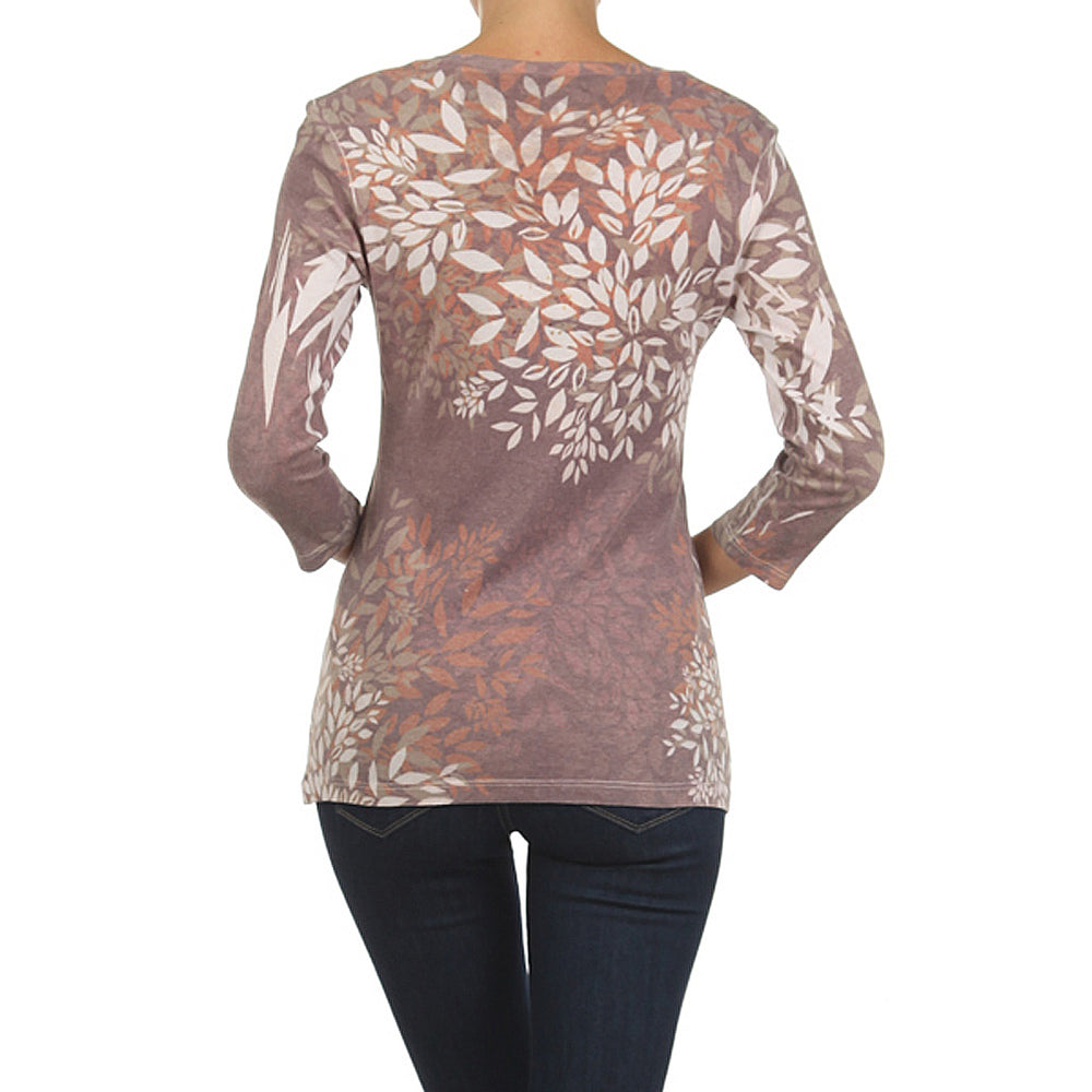 Women's Embellished Print  Cardigan #11530 - IDI Clothing - Where you can buy directly for the designer manufacturer-Made In USA :)