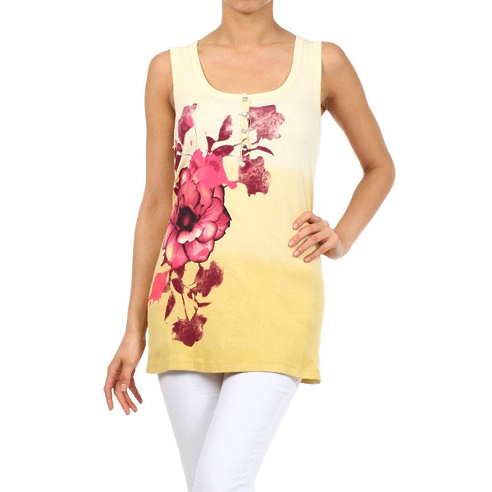 Women's Printed Tank Top #11588