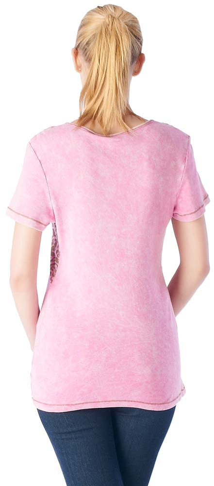 Women's V-neck Short Sleeve Top #11607 - IDI Clothing - Where you can buy directly for the designer manufacturer-Made In USA :)