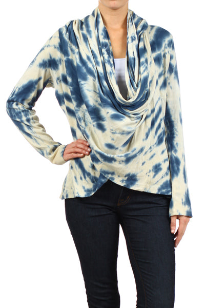 Women's Tie Dye Shawl Cardigan Hoodie 2 in 1 #11700 - IDI Clothing - Where you can buy directly for the designer manufacturer-Made In USA :)