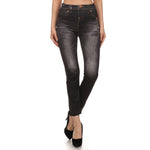 Women's Distress Look Leggings #11703