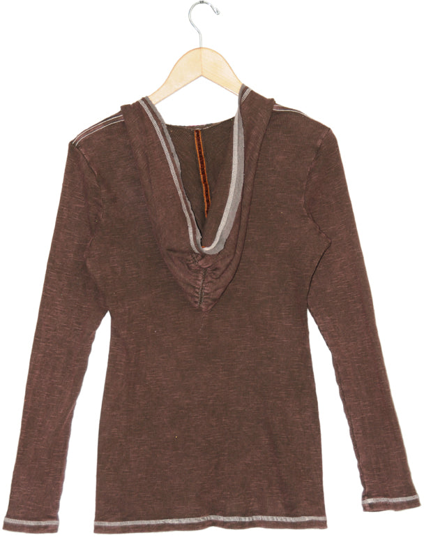 Women's Embroidered V Neck Hoodie Top #11711 - IDI Clothing - Where you can buy directly for the designer manufacturer-Made In USA :)