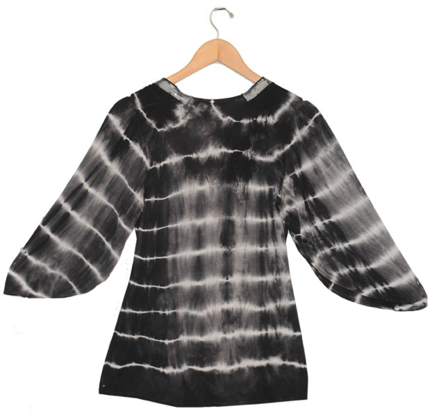 Women's Puff Sleeve Sequin Tie Dye Top #11854 - IDI Clothing - Where you can buy directly for the designer manufacturer-Made In USA :)