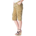 Women's Spring Cargo Shorts #12029 Garment Dye USA - IDI Clothing - Where you can buy directly for the designer manufacturer-Made In USA :)
