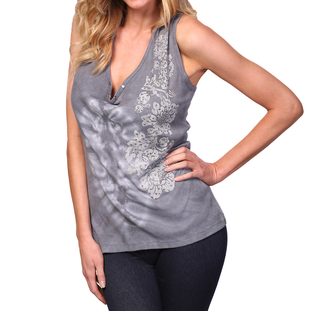 Women's Tie Dye Racer Tank Top #12051 Made In USA - IDI Clothing - Where you can buy directly for the designer manufacturer-Made In USA :)