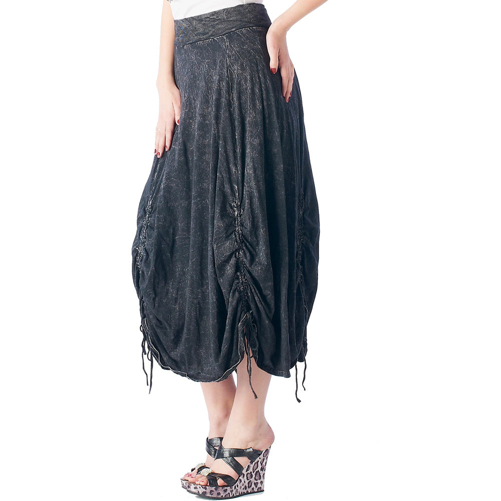 Ladies Mineral Wash Maxi Skirt