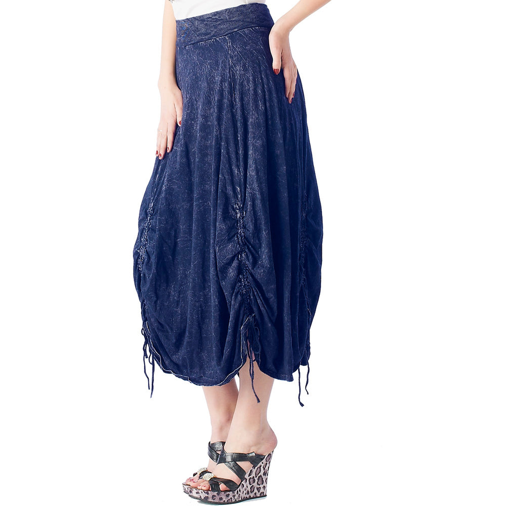 Women's Parachute Style- Mineral Wash Skirt #12074 - IDI Clothing - Where you can buy directly for the designer manufacturer-Made In USA :)