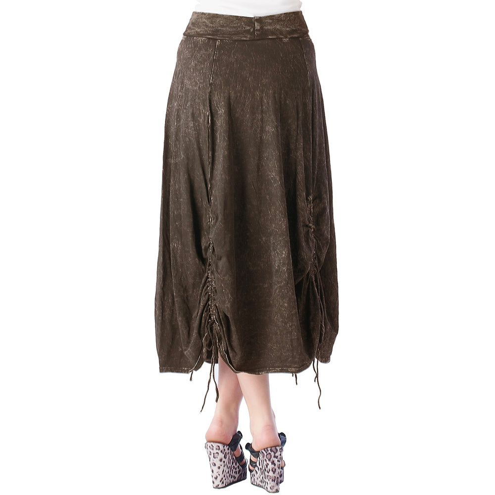 Women's Parachute Mineral Wash Skirt #12074 - IDI Clothing - Where you can buy directly for the designer manufacturer-Made In USA :)