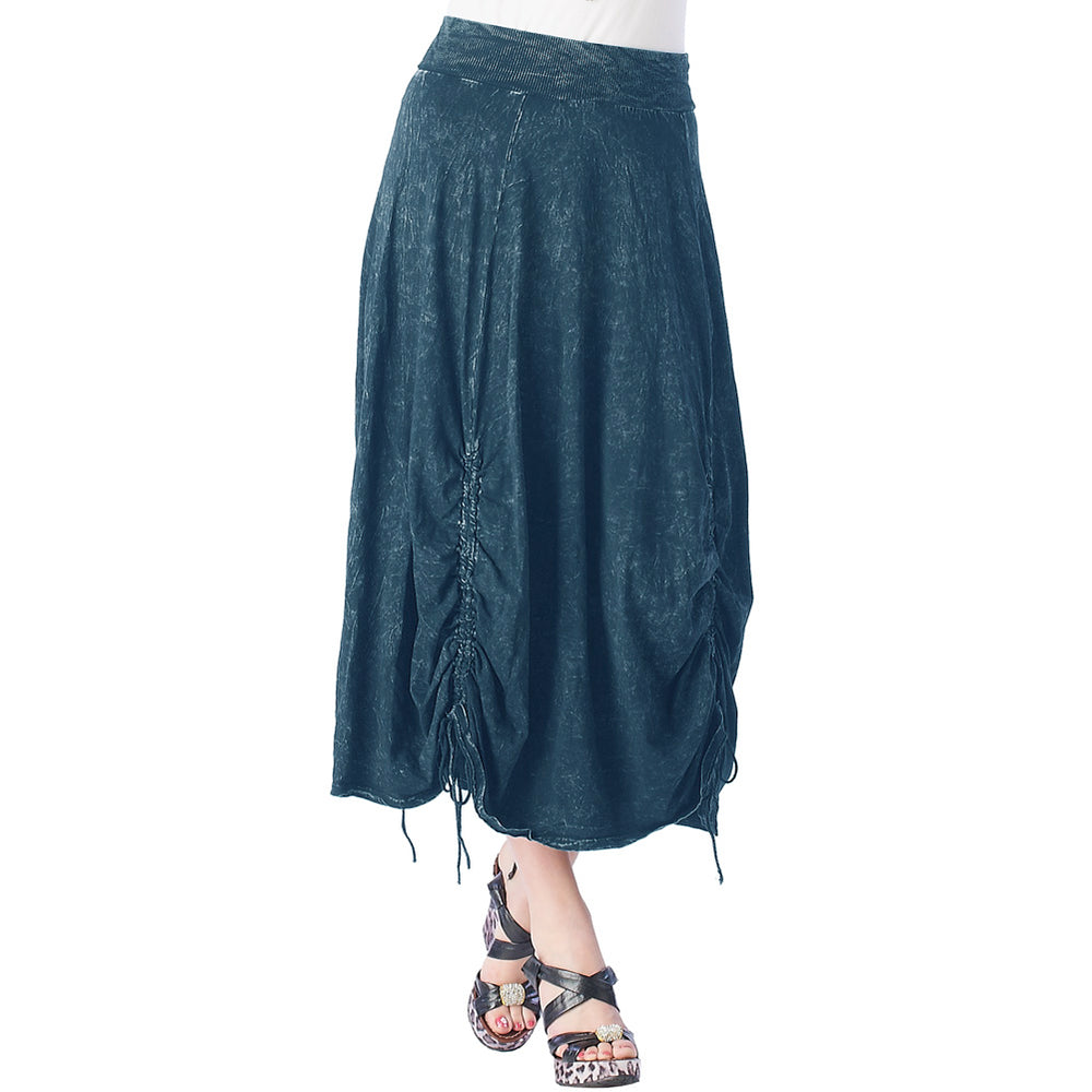 Fashion Skirt Pigment Dye  Parachute 100% cotton  #12074PD Dark Blue