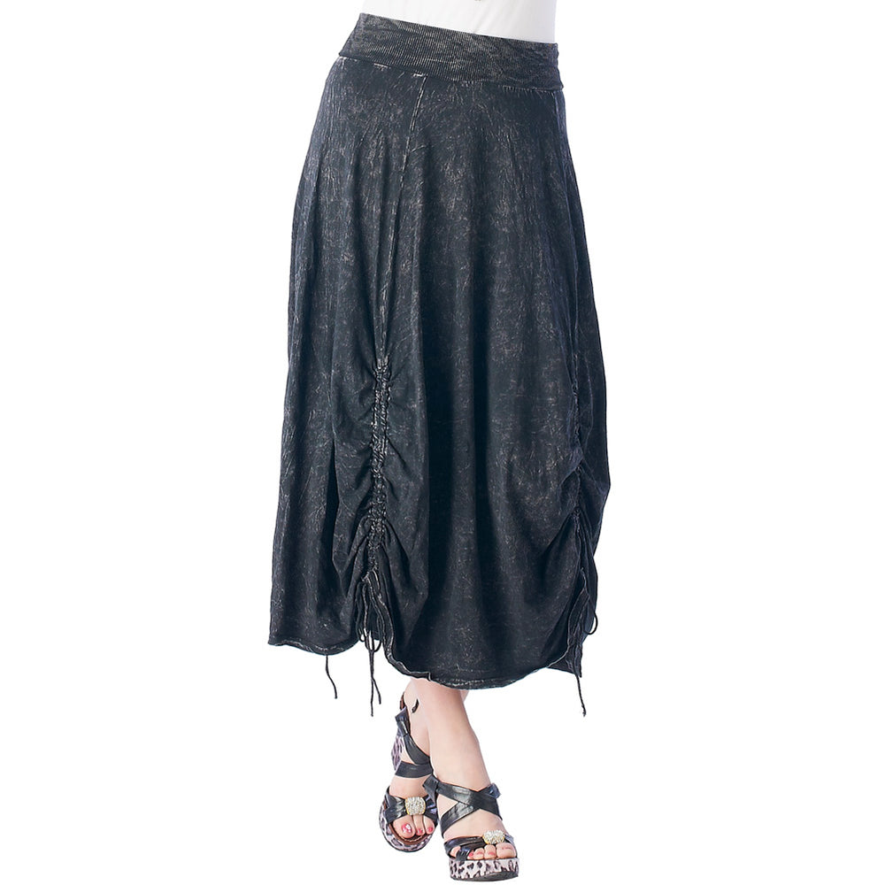 Fashion Skirt Pigment Dye  Parachute 100% cotton  #12074PD Black - IDI Clothing - Where you can buy directly for the designer manufacturer-Made In USA :)