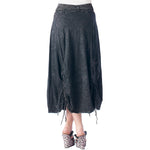 Women's Parachute Style- Mineral Wash Skirt #12074 Made In USA - IDI Clothing - Where you can buy directly for the designer manufacturer-Made In USA :)