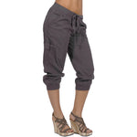 Women's IDI Cargo Capri Pant SoftGarment daye 100% Cotton #12082 Made In USA - IDI Clothing - Where you can buy directly for the designer manufacturer-Made In USA :)