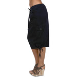 Women's Knee High Cargo Skirt #12083 Black Made In USA - IDI Clothing - Where you can buy directly for the designer manufacturer-Made In USA :)