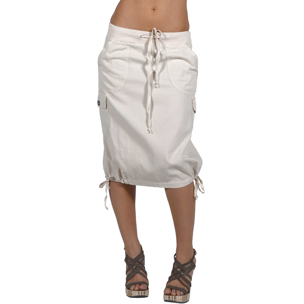Women's Knee High Cargo Skirt #12083 Khaki Made In USA - IDI Clothing - Where you can buy directly for the designer manufacturer-Made In USA :)