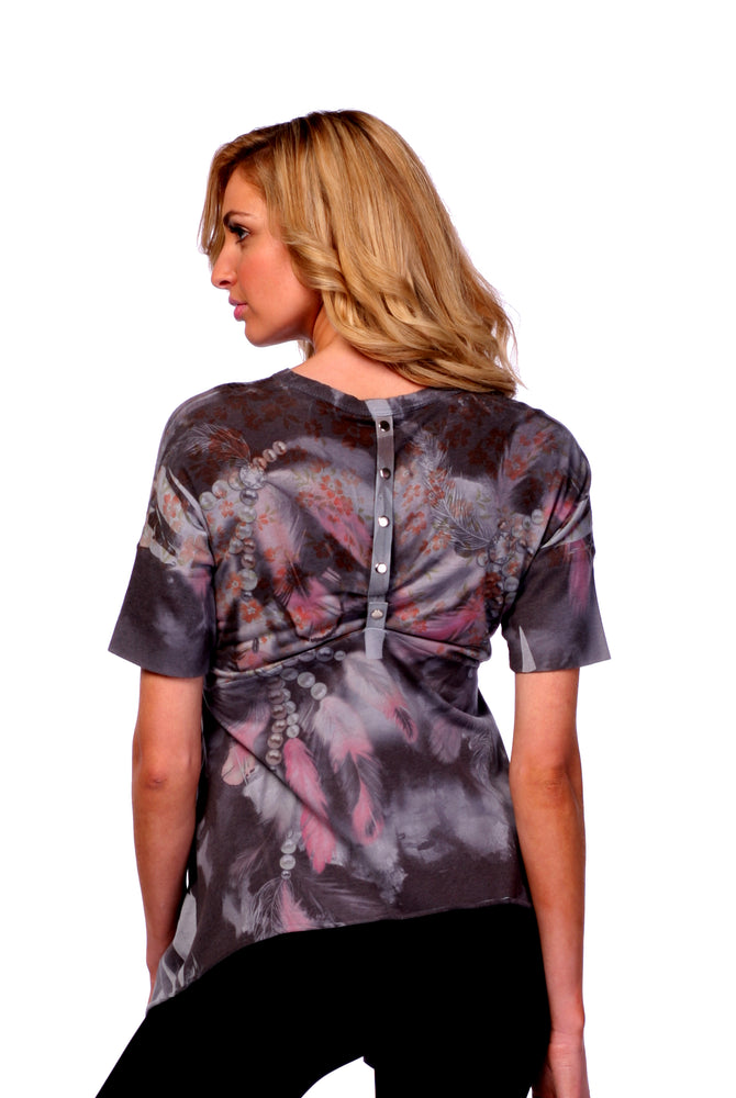 Women's Tie Dye Short Sleeve Top #12163 - IDI Clothing - Where you can buy directly for the designer manufacturer-Made In USA :)