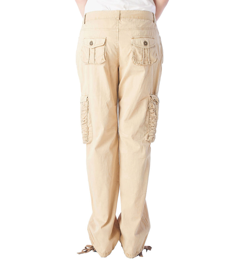 Women's Ruched Cargo Pants #12229 Garment Dye USA - IDI Clothing - Where you can buy directly for the designer manufacturer-Made In USA :)