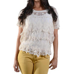Crochet Short Sleeve Top #12947 - IDI Clothing - Where you can buy directly for the designer manufacturer-Made In USA :)