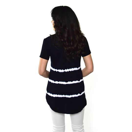 Women's High-Low V-Neck Short Sleeve Top #13013 TTL-Navy - IDI Clothing - Where you can buy directly for the designer manufacturer-Made In USA :)