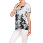 Women's High-Low V-Neck Short Sleeve Top #13013 XRW-GreyWhite - IDI Clothing - Where you can buy directly for the designer manufacturer-Made In USA :)