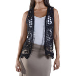 TRYST Crochet Vest #13015 100% Cotton
