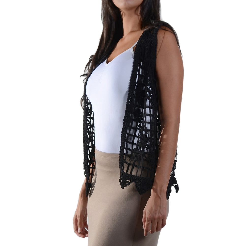 TRYST Crochet Vest #13015 100% Cotton - IDI Clothing - Where you can buy directly for the designer manufacturer-Made In USA :)