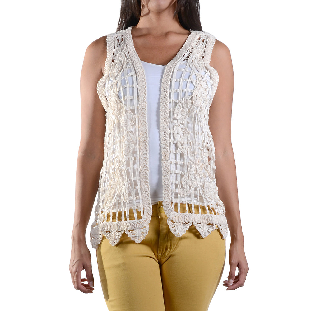 Lace Crochet Vest Top #13015