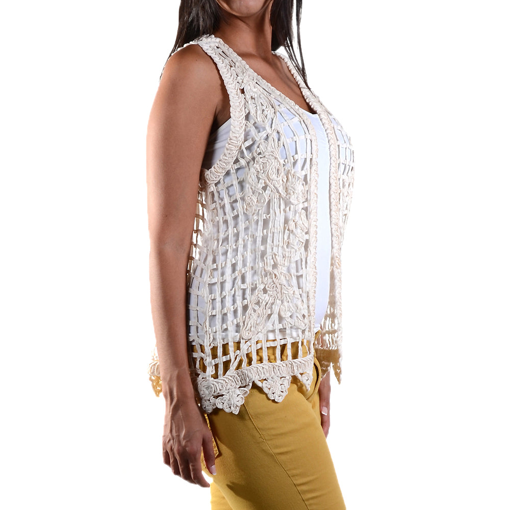 Lace Crochet Vest Top #13015 - IDI Clothing - Where you can buy directly for the designer manufacturer-Made In USA :)