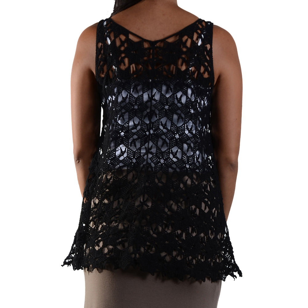 Crochet Sleeveless Tank Top #13037 - IDI Clothing - Where you can buy directly for the designer manufacturer-Made In USA :)