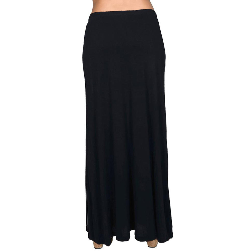 Lined Maxi Skirt Drapey 95% Rayon 5%Spandex Made In USA #13048 Blue - IDI Clothing - Where you can buy directly for the designer manufacturer-Made In USA :)