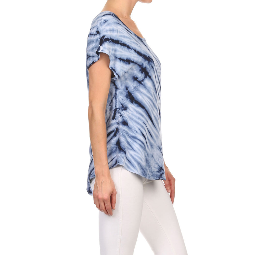 Women's High-Low Short Sleeve Woven Top #14058CS Made In USA - IDI Clothing - Where you can buy directly for the designer manufacturer-Made In USA :)