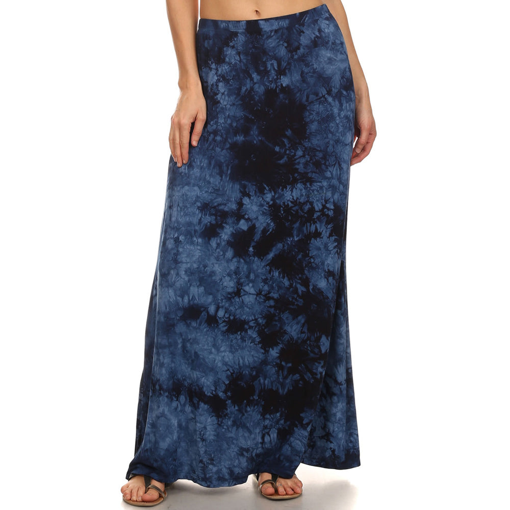 Maxi Tie Dye A-Line Skirt #14072 MUT Blue Made In USA