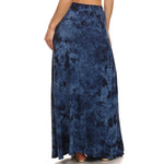 Maxi Tie Dye A-Line Skirt #14072 MUT Blue Made In USA - IDI Clothing - Where you can buy directly for the designer manufacturer-Made In USA :)