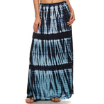 Women's Maxi Tie Dye A-Line Skirt #14072TTMB Navy Made In USA