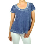 Women's Short Sleeve Burnout Top #14374 - IDI Clothing - Where you can buy directly for the designer manufacturer-Made In USA :)