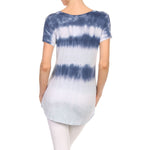 Women's High-Low Short Sleeve Tie Dye  #14411ODD Denim Made In USA - IDI Clothing - Where you can buy directly for the designer manufacturer-Made In USA :)
