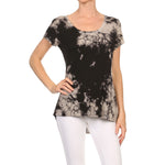 Women's High-Low Short Sleeve Top #14411