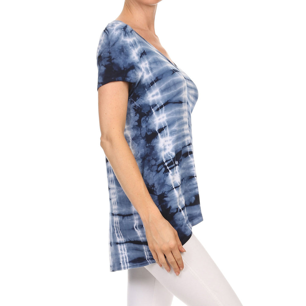 Women's High-Low V-Neck Short Sleeve Top #14435 Made In USA - IDI Clothing - Where you can buy directly for the designer manufacturer-Made In USA :)