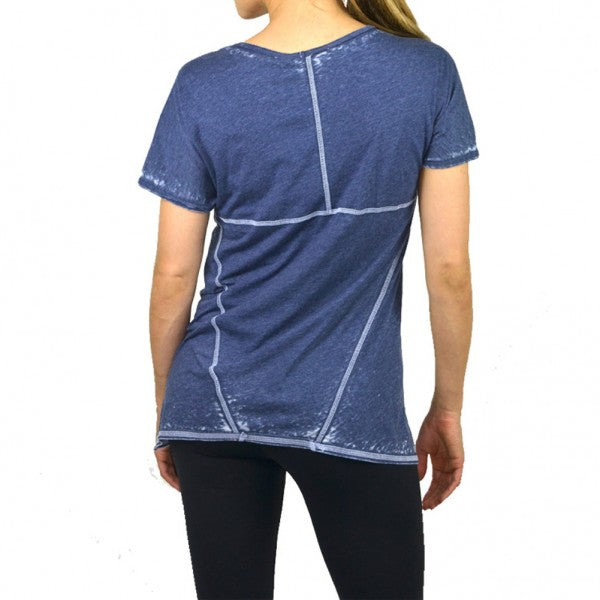 Womens Burnout Kite Trim V-Neck Top #14693 Made In USA - IDI Clothing - Where you can buy directly for the designer manufacturer-Made In USA :)