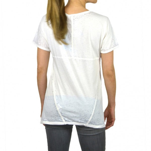 Fashion Knit Tee shirt Bun-out Garment Dye  #14693BO Milk White Made In USA - IDI Clothing - Where you can buy directly for the designer manufacturer-Made In USA :)