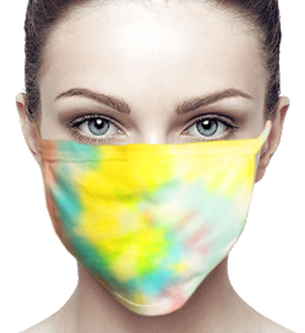 100% Cotton Knit Real Tie-Dye Face Mask #15260SP and Wire nose guard - IDI Clothing - Where you can buy directly for the designer manufacturer-Made In USA :)