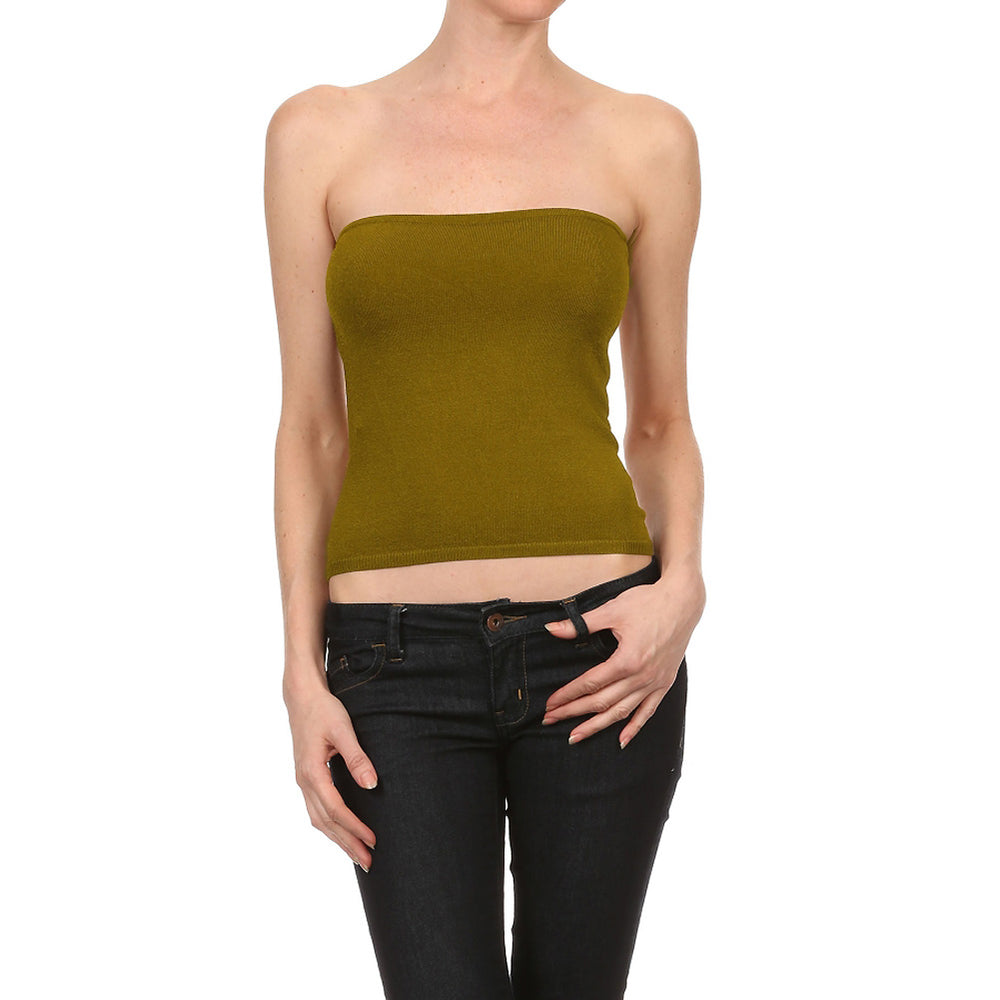 Women's Viscose/Spandex Yarn Sexy Tube Top #7014