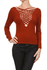 Women's Viscose/Spandex Yarn Sexy Long Sleeve Top #7017 - IDI Clothing - Where you can buy directly for the designer manufacturer-Made In USA :)