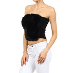 Women's Rabbit Fur Sexy Tube Top #7091 - IDI Clothing - Where you can buy directly for the designer manufacturer-Made In USA :)
