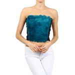 Women's Rabbit Fur Sexy Tube Top #7091