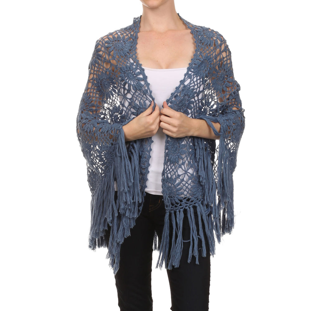 Women's Hand Made Crochet Shawl #8960