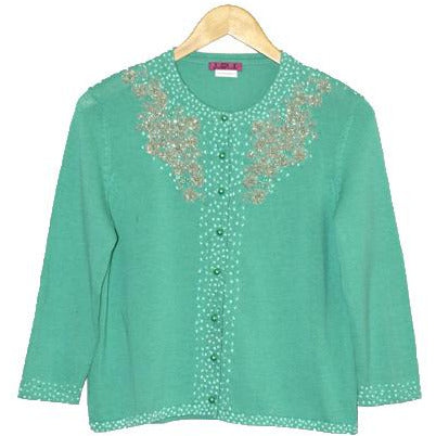 Women's Long Sleeve Beaded Vintage Cardigan #9281