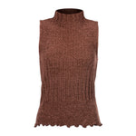 Women's Sleeveless Turtleneck Chenille Sweater #9623 - IDI Clothing - Where you can buy directly for the designer manufacturer-Made In USA :)