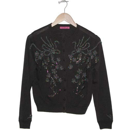 Women's Beaded Vintage Cardigan #9670