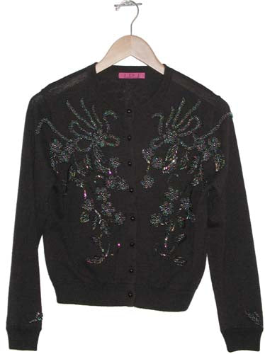 Women's Beaded Vintage Cardigan #9670 - IDI Clothing - Where you can buy directly for the designer manufacturer-Made In USA :)